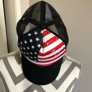 Red White and Blue Stars and Stripes Flag Hat